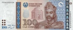 Tadschikistan / Tajikistan P.27a 100 Somoni 1999 (2013) (1)