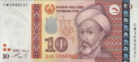 Tadschikistan / Tajikistan P.24 10 Somoni 1999 (2013) (1)
