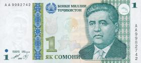 Tadschikistan / Tajikistan P.14 1 Somoni 1999 (2000) (1)