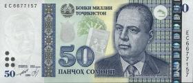 Tadschikistan / Tajikistan P.26a 50 Somoni 1999 (2013) (1)