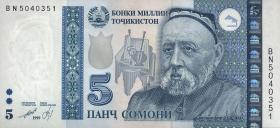 Tadschikistan / Tajikistan P.23 5 Somoni 1999 (2013) (1)