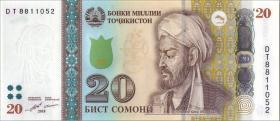 Tadschikistan / Tajikistan P.25c 20 Somoni 2018 (1)
