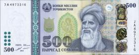 Tadschikistan / Tajikistan P.28 500 Somoni 2018 (1)