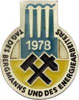 Tag des Bergmanns und des Energiearbeiters 1978 - Ausgabe für Ehrengäste