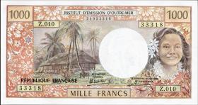 Tahiti, Frz. Übersee P.27d 1000 Francs (1969-71) (1)