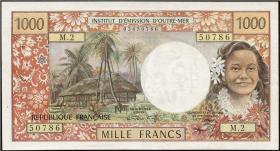 Tahiti, Frz. Übersee P.27a 1000 Francs (1971) (2)