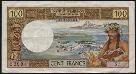 Tahiti, Frz. Übersee P.23 100 Francs (1969) (3)