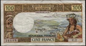 Tahiti, Frz. Übersee P.24b 100 Francs (1973) (3)
