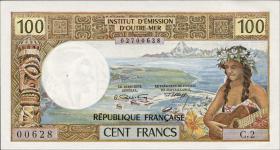 Tahiti, Frz. Übersee P.24a 100 Francs 1973 (1)