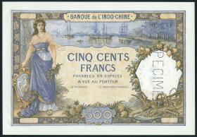 Tahiti P.13s 500 Francs (1938) Specimen (1)