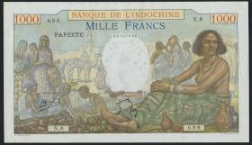 Tahiti P.15 1000 Francs (1940-57) Bank Indochina (2)