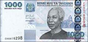 Tansania / Tanzania P.36b 1000 Shilingi (2006) Nyerere