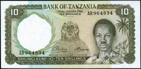 Tansania / Tanzania P.02a 10 Shillings (1966) (1)
