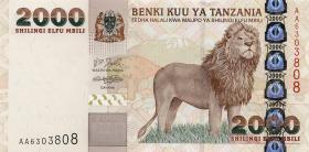 Tansania / Tanzania P.37a 2000 Schilling (2003) Löwe
