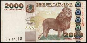 Tansania / Tanzania P.37b 2000 Shillingi 2009 (1)