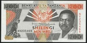 Tansania / Tanzania P.25b 200 Shillingi (1993) (2)