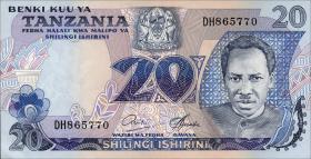Tansania / Tanzania P.07b 20 Shillings (1978) (1)
