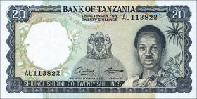 Tansania / Tanzania P.03a 20 Shillings (1966) (1)
