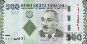 Tansania / Tanzania P.40 500 Shilingi (2010)