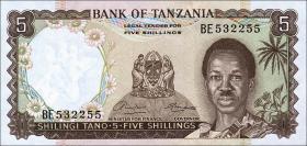 Tansania / Tanzania P.01 5 Shillings (1966) (1)