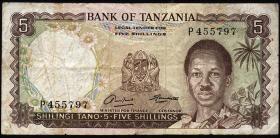 Tansania / Tanzania P.01 5 Shillings (1966) (3)