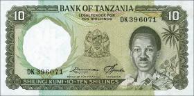 Tansania / Tanzania P.02e 10 Shillings (1966) (1)