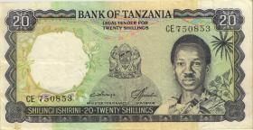 Tansania / Tanzania P.03c 20 Shillings (1966) (3+)