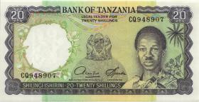 Tansania / Tanzania P.03d 20 Shillings (1966) (1)