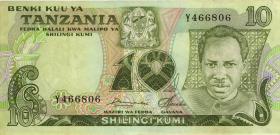Tansania / Tanzania P.06a 10 Shillings (1978) Y (1-)