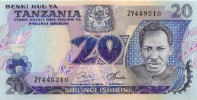 Tansania / Tanzania P.07b 20 Shillings (1978) ZY (1)