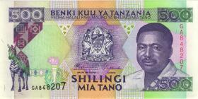 Tansania / Tanzania P.26a 500 Shillingi (1993) (1)