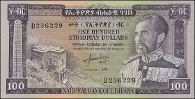 Äthiopien / Ethiopia P.29 100 Dollars (1966) (1)