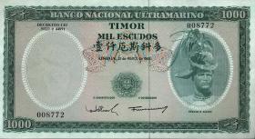 Timor P.30 1000 Escudos 1968 (2+)