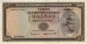Timor P.29 500 Escudos 1963 (2/1)