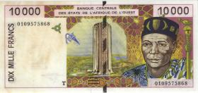 West-Afr.Staaten/West African States P.814Tj 10000 Francs 2001 (2-)