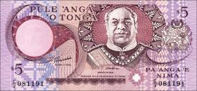 Tonga P.33 5 Pa´anga (1995) (1)