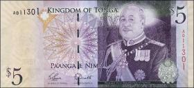 Tonga P.39a 5 Pa'anga (2008) (1)