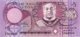 Tonga P.33b 5 Pa´anga (1995) (1)
