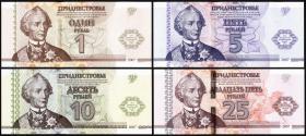 Transnistrien / Transnistria P.48-51 1, 5, 10, 25 Rubel 2007 (2014) (1)