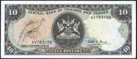 Trinidad & Tobago P.38b 10 Dollars (1985) (1-)