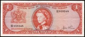 Trinidad & Tobago P.26a 1 Dollar L. 1964 (3)