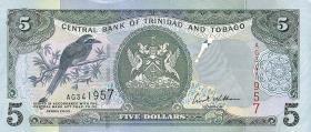 Trinidad & Tobago P.42b 5 Dollars 2002 (1)