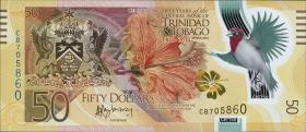 Trinidad & Tobago P.54 50 Dollar 2014 Polymer Gedenkbanknote (1)