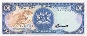 Trinidad & Tobago P.40c 100 Dollars (1985) (3+)