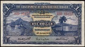 Trinidad & Tobago P.05c 1 Dollar 1942 (3+)