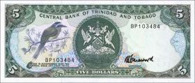 Trinidad & Tobago P.37c 5 Dollars (1985) (1)