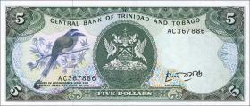 Trinidad & Tobago P.37a 5 Dollars (1985) (1)