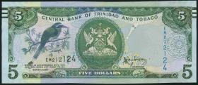 Trinidad & Tobago P.47A 5 Dollars 2006 (2014) (1)