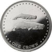 Tristan da Cunha 1 Crown 2008 Wal