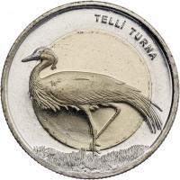 Türkei 1 Lira 2013 Kranich